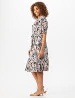 Wrap Brush Stroke Midi Dress - 3