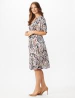 Wrap Brush Stroke Midi Dress - Plus - 4