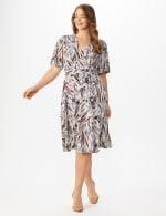 Wrap Brush Stroke Midi Dress - Plus - 7