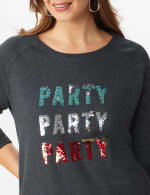 DB Sunday Party Sequin French Terry Sweatshirt - Plus - 4