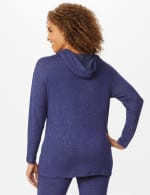 DB Sunday Sweater Knit Hacci Hoodie - Navy - Back
