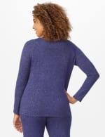 DB Sunday Sweater Knit Marilyn Neck Top - Navy - Back