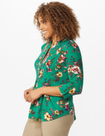 Multi Color Floral Pintuck Popover - Misses - 3