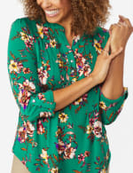 Multi Color Floral Pintuck Popover - Misses - 4