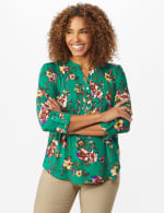 Multi Color Floral Pintuck Popover - Misses - 5