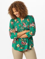 Multi Color Floral Pintuck Popover - Misses - 6