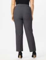 Roz & Ali Secret Agent Tummy Control Pants Cateye Rivets - Average Length - Plus - Grey - Back