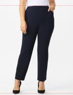 Roz & Ali Plus Secret Agent Tummy Control Pants Cateye Rivets - Average Length - Plus - Navy - Front