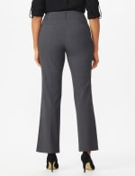 Roz & Ali  Secret Agent  Trouser With Cateye  Pocket  & Zipper - Grey - Back