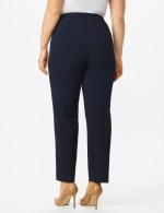 Plus Roz & Ali  Plus Secret Agent Trouser  Pants with Cat Eye Pockets & Zip - Navy - Back