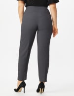 Plus Roz & Ali  Plus Secret Agent Trouser  Pants with Cat Eye Pockets & Zip - Grey - Back