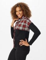 Westport Plaid Color Block Hacci Knit Sweater Top - 4