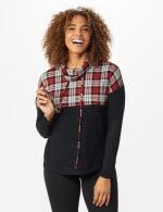 Westport Plaid Color Block Hacci Knit Sweater Top - 6