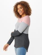 Westport Sweater Knit Color Block Top - 3