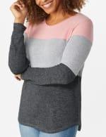 Westport Sweater Knit Color Block Top - 4