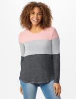 Westport Sweater Knit Color Block Top - 5