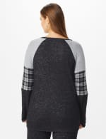 Westport Hacci Sweater Knit Twist Front Top - Plus - Black - Back