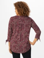 Westport Bohemian Pintuck Popover - Red - Back