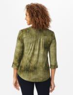 Roz & Ali Sequin Tie Dye Popover - Olive Green - Back