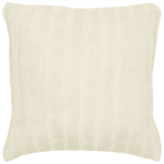 Cable Knit Ivory Pillow Cover - Beige - Back