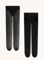 The Essential Edit Tights Socks - Black - Back