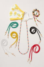 Zinc, Gold Plated Crystal Beads Mask Lanyards for Kids - Multi - Detail