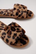 Animal Print Furry Slippers - 3
