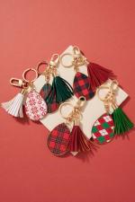 Christmas Theme PU Leather Key Chain - 3