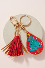 Christmas Theme PU Leather Key Chain - 8