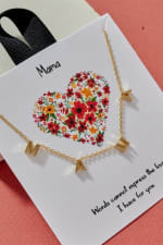 MAMA Letter Charm Gold Dip Necklace 18K Gold - 1