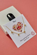 MAMA Letter Charm Gold Dip Necklace 18K Gold - 2