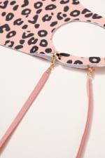 Gold Plated Suede Ribbon Multi Function Mask Lanyards - 4