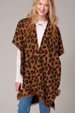 Leopard Print Cozy Kimono - 1