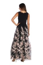 Morgan & Co. Bodice With Insert And Long Embroidered Skirt - 2