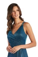 Morgan & Co. Trendy Surplice Metallic Gown - 3