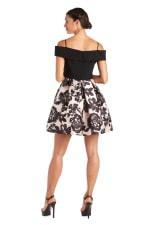 Morgan & Co. Off the Shoulder Skater Dress - 2
