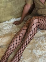 'Caught Up' Large Fishnet Tights Socks - 3