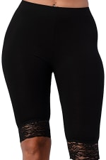 Lace Hem Biker Shorts - 3