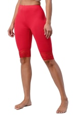 Lace Hem Biker Shorts - 25