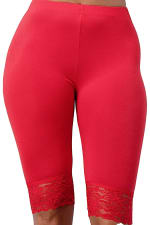 Lace Hem Biker Shorts - 27