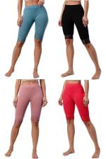 Lace Hem Biker Shorts - 18