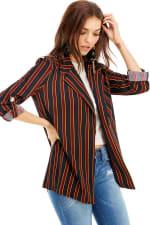 Stripe Easy Longline Blazer - 3