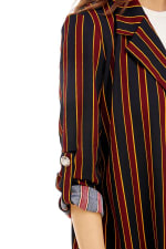 Stripe Easy Longline Blazer - 4