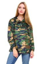 Camouflage Hooded Windbreaker Jacket - 3