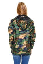 Camouflage Hooded Windbreaker Jacket - 2