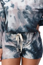 Tie Dye Shorts And Sweatshirt Set - 3