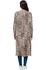 Leopard Patterned Long Duster - 2