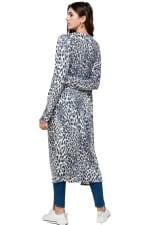Leopard Patterned Long Duster - 7