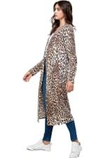 Leopard Patterned Long Duster - 4