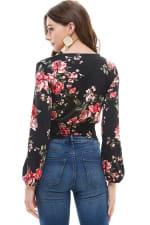 Rose Patterned Blouse - 2